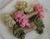 Shabby Wrinkled FADED PETAL ribbon bundle, 15 yards