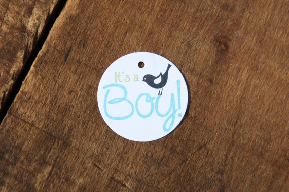 Its A Boy Small Baby Bird Tag Perfect For Baby Showers