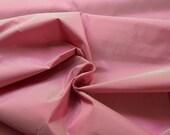 "Lush silk taffeta fabric 31x54"" pure silk strawberry pink material dress making corset historical 18th 19th century"