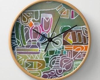 Abstract Wall Clock Art Clock Nature Modern Wall Clock Home Decor