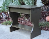 Rustic Bench, Plant Stand, Coffee Or Entry Table, YOU CHOOSE COLOR