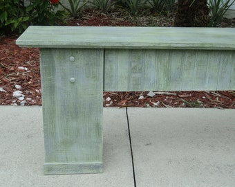 Entry Table, Plant Stand, Rustic Wooden Bench, Country Cottage Decor