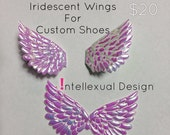 Iridescent Angel Wings For Custom Converse Vans and Toms Shoes