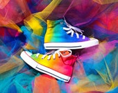 Kids Rainbow Custom Converse Shoes