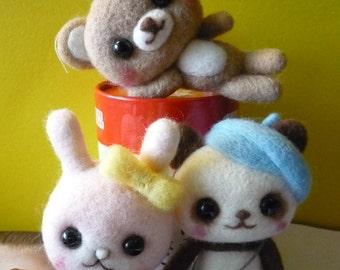 Kawaii needle Felted mascots