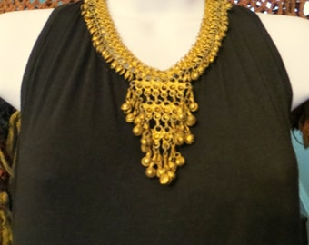 Fabulous Moroccan Brass and Gold Necklace