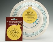 "Set of Two (2) Medium Plate Hangers Invisible Disc Plate Walls Hanger - 3"" For Plates Up To 8"""
