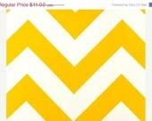 CLOSING SHOP Home Dec Fabric Yardage - Large Chevron Stripe- Sunny Yellow  and White - 1 Yard