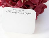50 How to Live Happily Ever After Wedding Advice Cards / Love Notes for the bride and groom newlyweds guest book alternative bridal shower