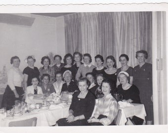 Vintage Photo - Ladies at Dinner Party - Vintage Photograph (HHH)