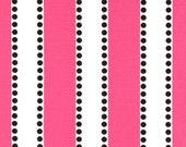 Baby Book Sling - pink black dot stripe white book storage shelf nursery decor