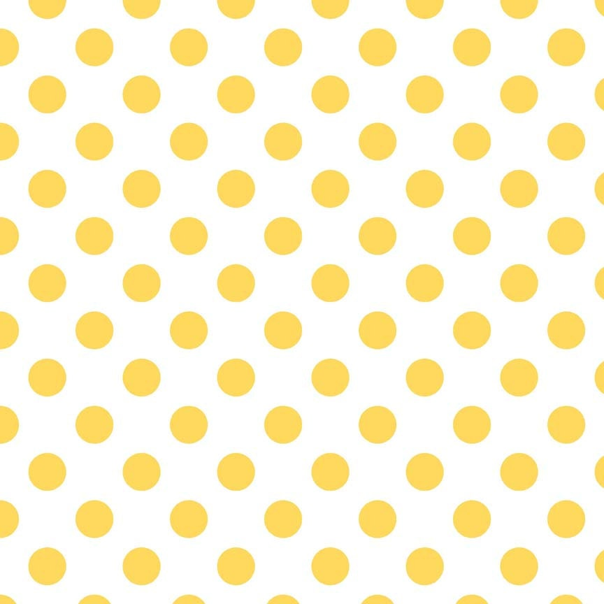 Yellow Blouse With White Polka Dots 23