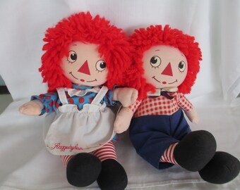 Raggedy Ann and Andy Doll/Cloth Doll/Knickerbocker/Volland/Applause/Hasbro/ MUSICAL PAIR By Gatormom13