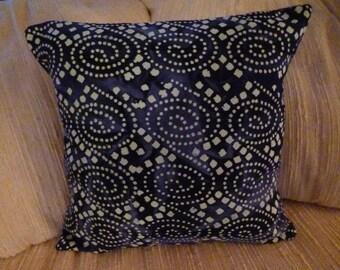 Pillow Throw 18x18 Lime Green Ikat Outdoor Fabric