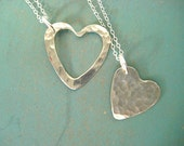 Two Hearts Necklace Set, Mother Daughter Jewelry, Sterling Silver Heart Necklace, Mother Child Jewelry, Mother Daughter Gifts, Mother's Day