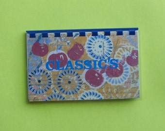 "Handmade ""Classic's Recipes"" Blank Recipe book"