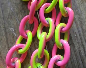 3ft Yellow Pink Aluminum Jewelry Oval Chain 16x22mm - K904-AJ009