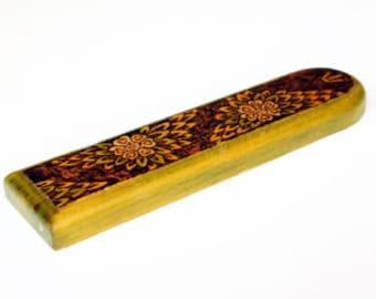 Mezuzah case / Wood Mezuza / Decorated Mezuza / Woodburning Mezuzah / Made in Israel