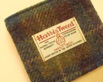 Mens wallet Harris tweed wallet mens gift boyfriends gift blue wallet tartan wallet gift for husband gift for father Scottish gift