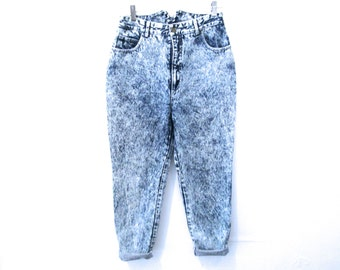 80's Acid Wash High Rise Jeans