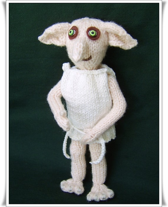 Knitting Pattern For Dobby The House Elf : Dobby the house elf Pattern only IMMEDIATE DOWNLOAD