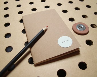 Brown paper Notebook Notepad that thinks YOU are SPOT on - Funny nerdy gifts best friends