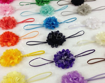 You pick 5 Mini Satin Mesh Flower Headbands, Baby Headband, Toddler Headband, Children's Headband Set