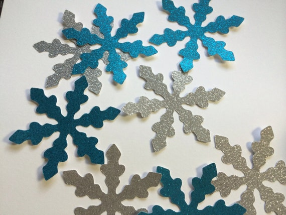 8 4 inch blue silver snowflakes large snowflake decoration