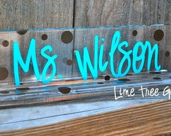 Personalized Acrylic Teacher Name Plate