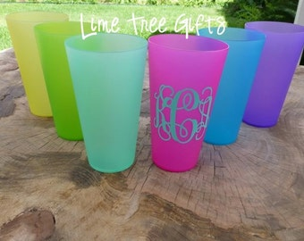 SET of TWO - Personalized Plastic Cups 32oz