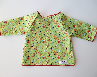 Size 8 Waterproof Art Smock - Size 8- Owl Print -Water Resistant and Long Sleeved