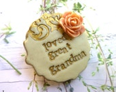 Brooch for Nana and Mom - Grandmother gift - Customized jewelry - Nana