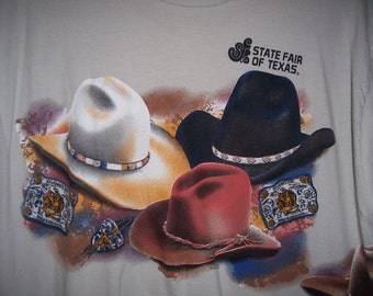 State Fair Of Texas Tee Shirt, Cowboy Hats Tee Shirt, by Nana's Vintage Shop