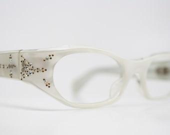 Vintage Eyewear Small Cat Eye Glasses Unused Cat Eye Eyeglasses