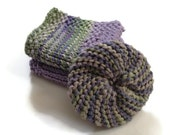 Dishcloth and Scrubbie Combo Pack Green and Purple