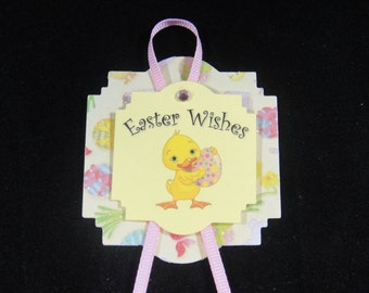 Yellow Happy Easter Tag - Quantity 8