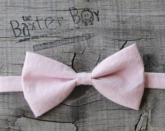 Solid Light Pink Bow Tie for little boys - photo prop, ring bearer, wedding