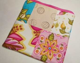 Zip Pouch, Volleyball, Pink