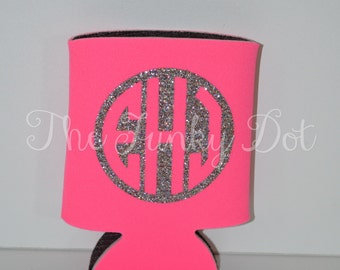 Monogrammed Can/Bottle/Beer Hugger/Sleeve/Holder