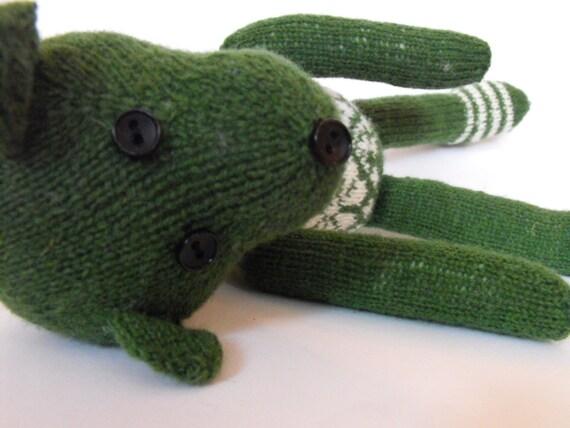 Teddy bear hand knitted teddy bear made of shetland by timrava