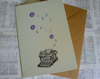 Vintage Typewriter birthday card