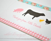 Shabby Chic Farm Thank you Note Cards