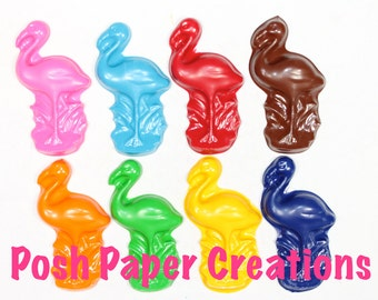 15 sets of 2 Flamingo crayons - in cello bag tied with ribbon - choose your colors