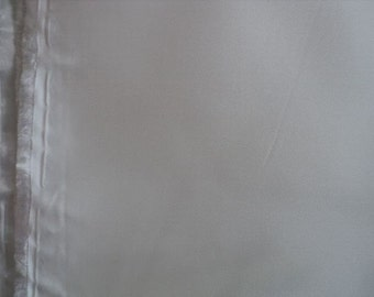White Shiny Lining Fabric - Bridal Destash - 1 yard, 8 inches x 60 inches wide - More Available
