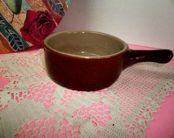 VIntage Onion Soup Crock, Western Stoneware Monmouth Pottery Crock