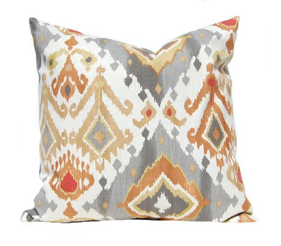 Decorative Pillows Blue And Orange : Gray Pillow Cover Decorative Throw Pillow Covers Euro Pillow