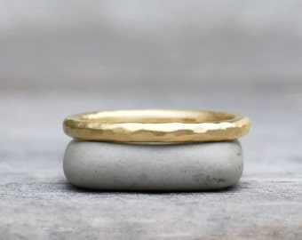 Gold Wedding Band - 2mm Gold Wedding Ring - Choose 18k or 14k - Eco-Friendly Recycled Gold
