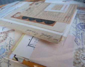 SALE 20 sheets of Vintage Spanish Ephemera Paper Pack
