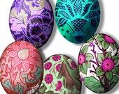 Digital Collage Sheet, Digital Art, Printable Download, 40 X 30 mm (or smaller) Ovals, Cabochons, Easter Eggs, Embellishments, EGGS 1