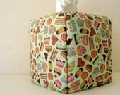 Kleenex cover, fabric covered tissue box cover, kitchen decor